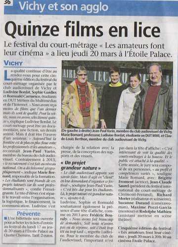 presse,festival,Vichy,cinéma